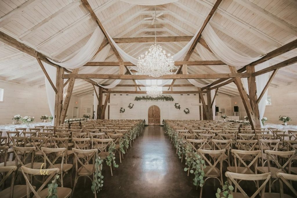 What to do when it rains on your wedding day? Be thankful for a versatile venue like Howe Farms!