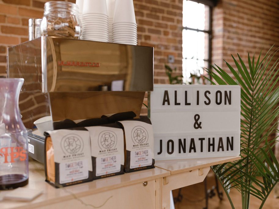 Shop Local for Your Chattanooga Wedding and incorporate an espresso cart with locally roasted coffee